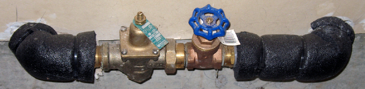 emergency water shut-off valve