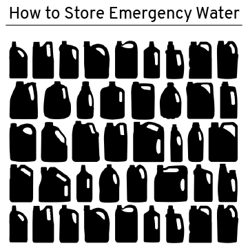 how to store emergency water in your own container
